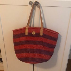 Tory Burch straw tote bag